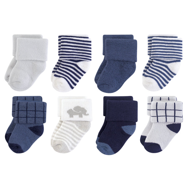 Touched by Nature Organic Cotton Socks, Blue Elephant