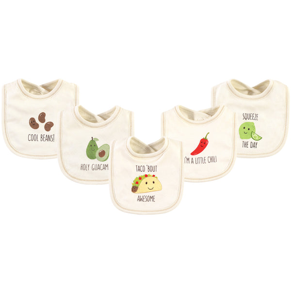 Touched by Nature Organic Cotton Bibs, Taco