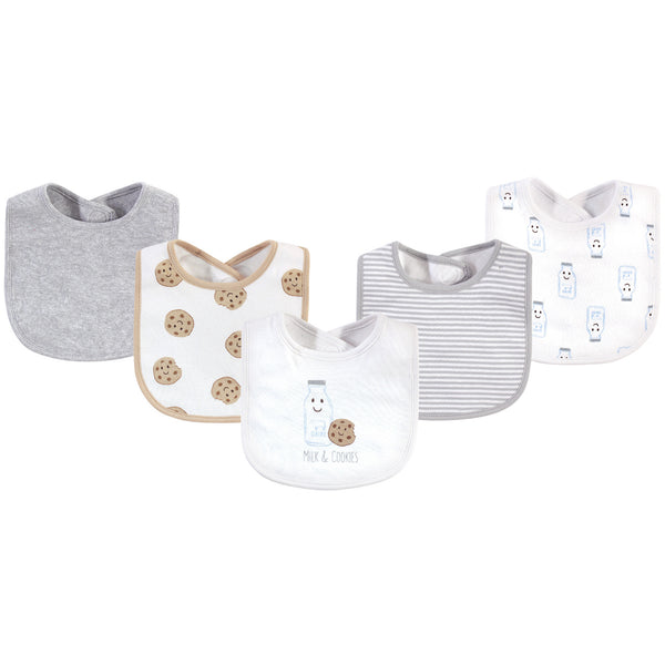 Touched by Nature Organic Cotton Bibs, Milk Cookies