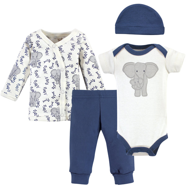 Touched by Nature Organic Cotton Preemie Layette Set, Elephant