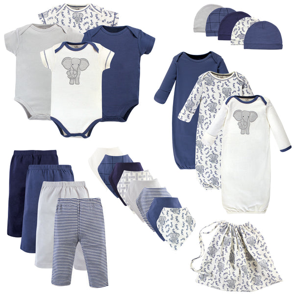 Touched by Nature Organic Cotton Layette Set and Giftset, Elephant
