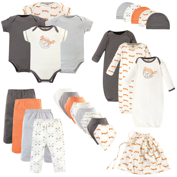 Touched by Nature Organic Cotton Layette Set and Giftset, Fox