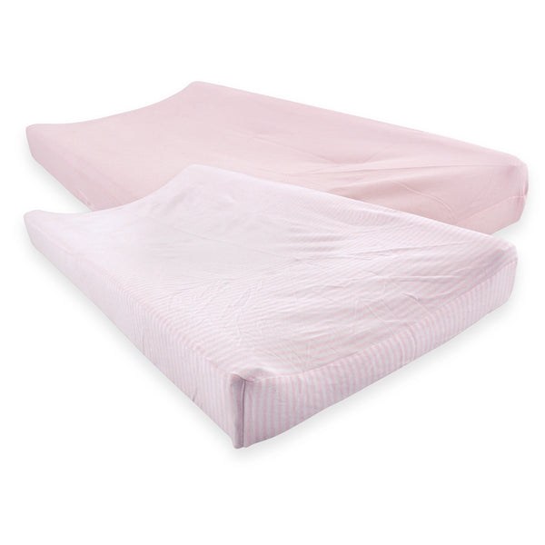 Touched by Nature Organic Cotton Changing Pad Cover, Barely Pink