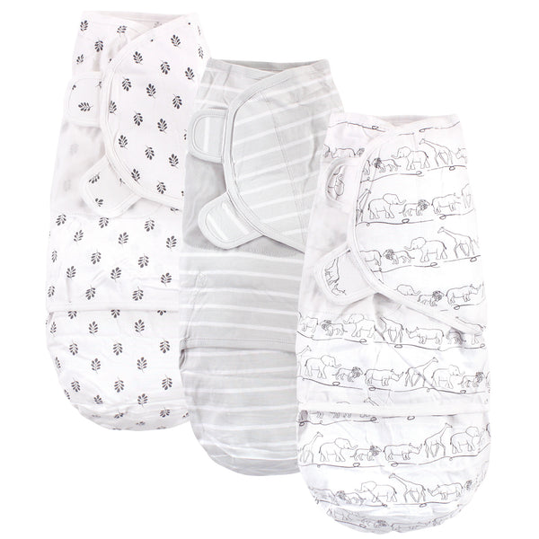 Touched by Nature Organic Cotton Swaddle Wraps, Safari