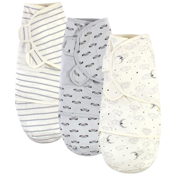 Touched by Nature Organic Cotton Swaddle Wraps, Mr. Moon