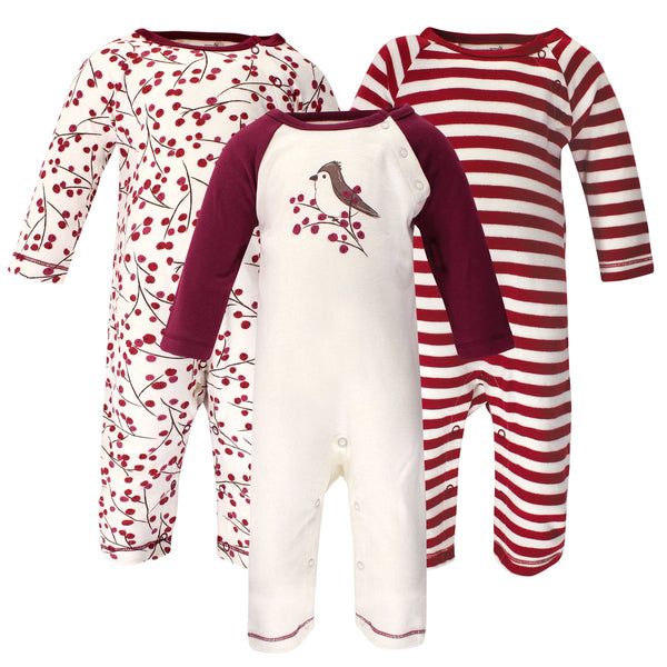 Touched by Nature Organic Cotton Coveralls, Berry Branch