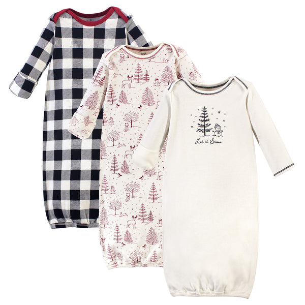 Touched by Nature Organic Cotton Gowns, Winter Woodland