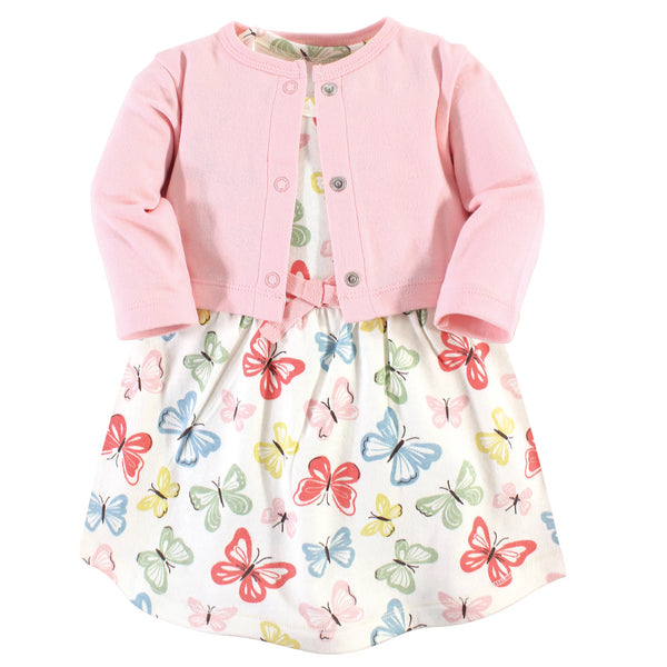 Touched by Nature Organic Cotton Dress and Cardigan, Butterflies