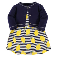Touched by Nature Organic Cotton Dress and Cardigan, Lemons