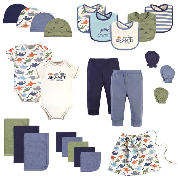 Touched by Nature Organic Cotton Layette Set and Giftset, Bold Dinosaurs, 0-6 Months