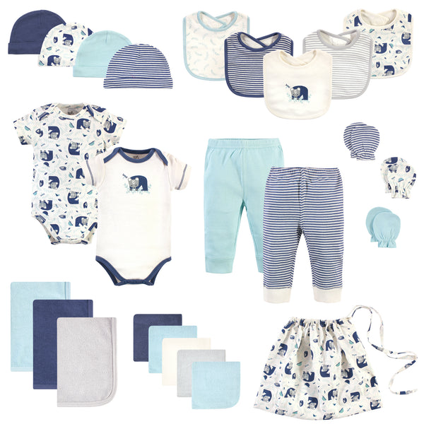 Touched by Nature Organic Cotton Layette Set and Giftset, Woodland, 0-6 Months