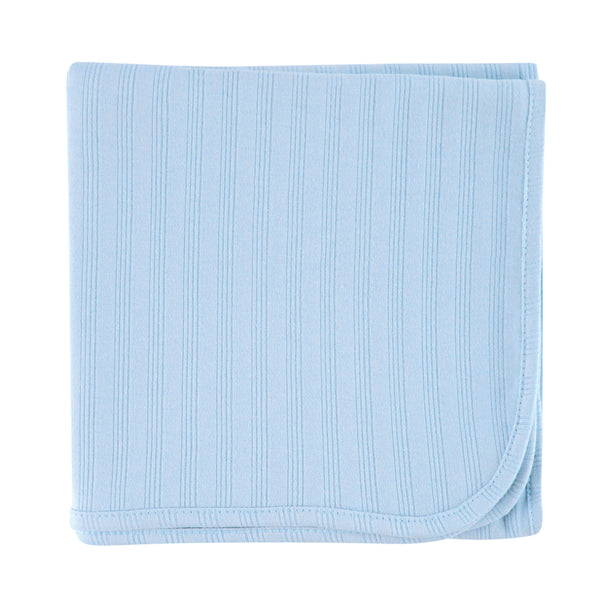 Touched by Nature Organic Cotton Swaddle, Receiving and Multi-purpose Blanket, Blue