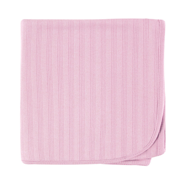 Touched by Nature Organic Cotton Swaddle, Receiving and Multi-purpose Blanket, Pink