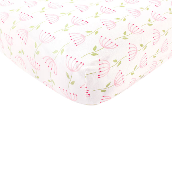 Touched by Nature Organic Cotton Crib Sheet, Flower