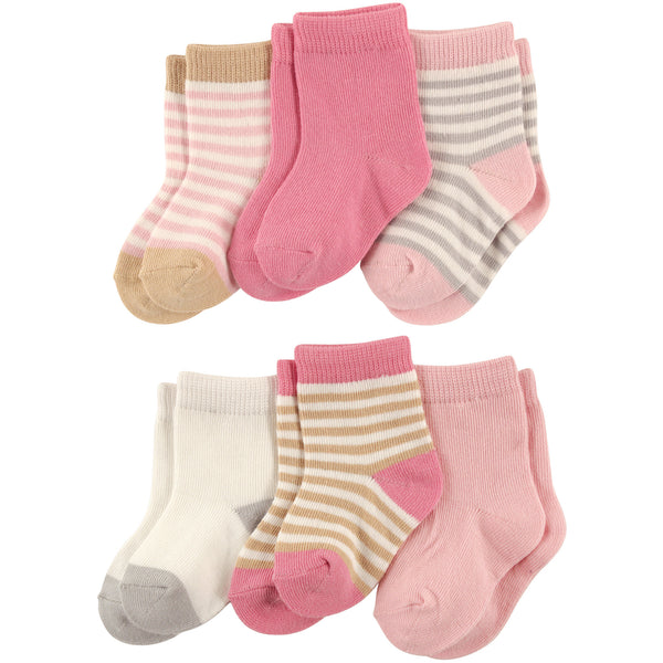 Touched by Nature Organic Cotton Socks, Girl Stripes