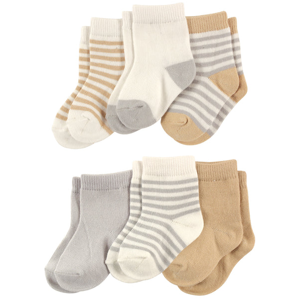 Touched by Nature Organic Cotton Socks, Neutral Stripes