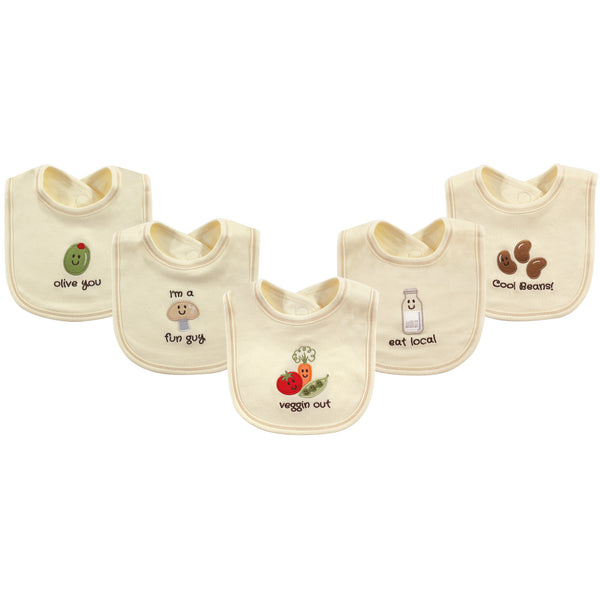 Touched by Nature Organic Cotton Bibs, Veggies