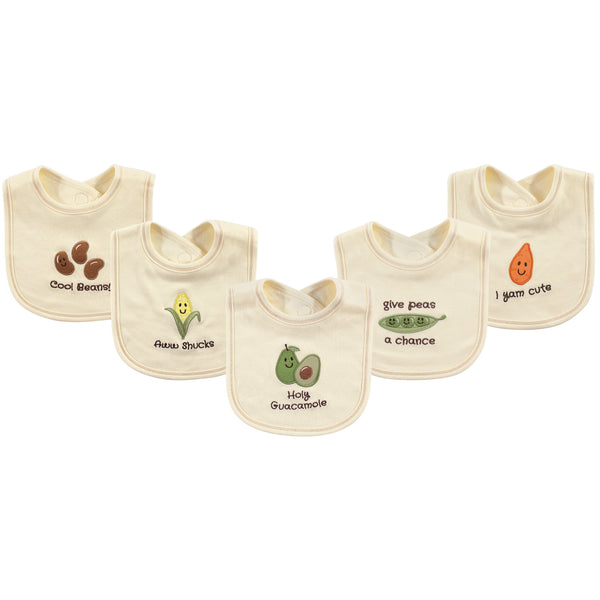 Touched by Nature Organic Cotton Bibs, Guacamole