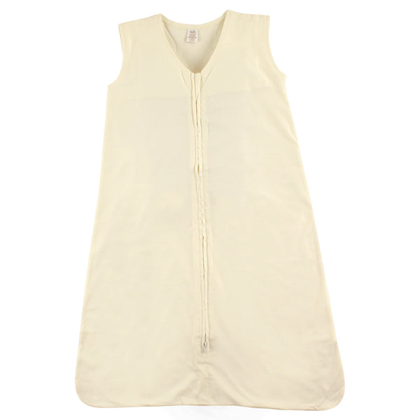 Touched by Nature Organic Cotton Sleeveless Wearable Solid Color Sleeping Bag, Sack, Blanket, Solid Cream