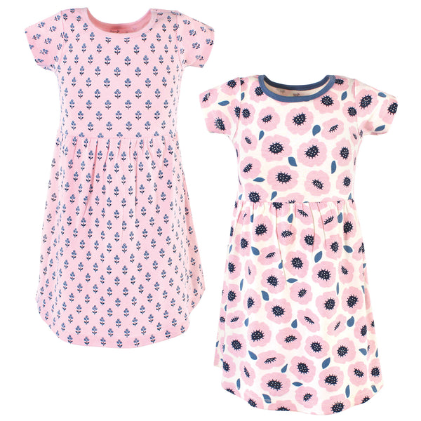 Touched by Nature Organic Cotton Short-Sleeve and Long-Sleeve Dresses, Youth Blossoms Short Sleeve