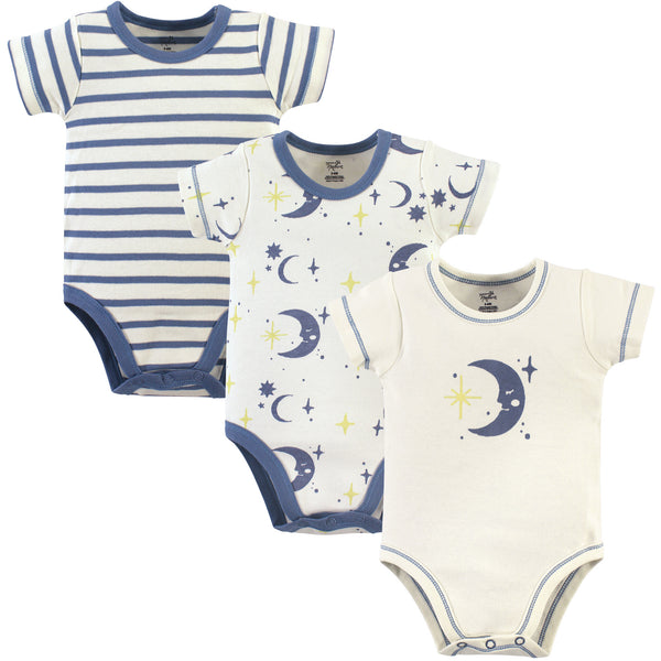 Touched by Nature Organic Cotton Bodysuits, Moon