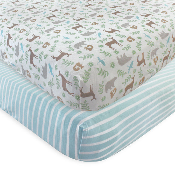 Touched by Nature Organic Cotton Crib Sheet, Forest