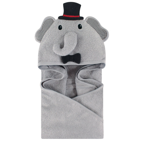 Little Treasure Cotton Animal Face Hooded Towel, Mr Elephant