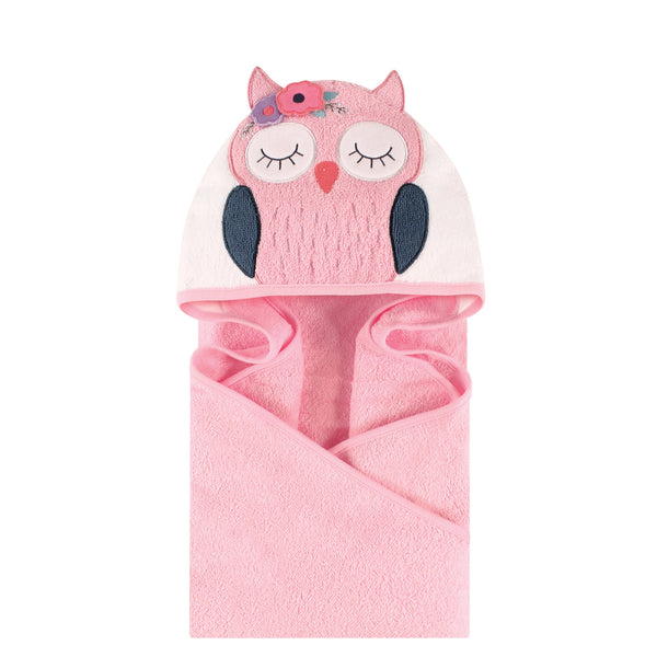 Little Treasure Cotton Animal Face Hooded Towel, Boho Chic Owl