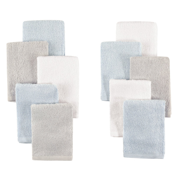 Little Treasure Rayon from Bamboo Luxurious Washcloths, Light Blue Gray