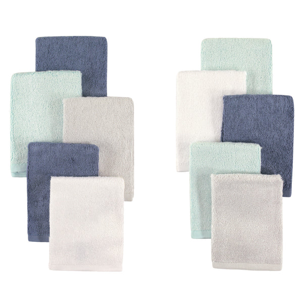 Little Treasure Rayon from Bamboo Luxurious Washcloths, Denim Mint