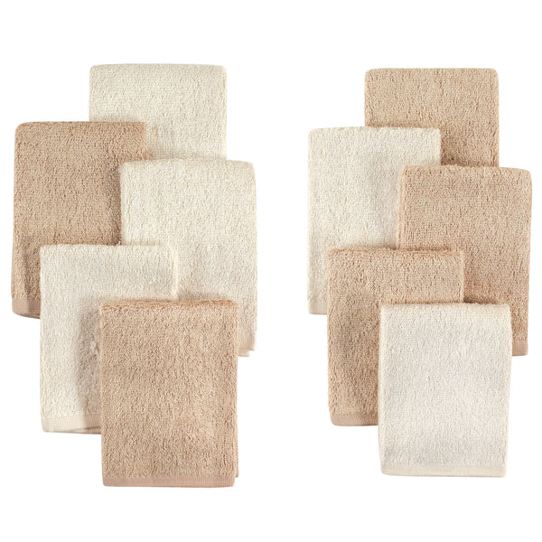 Little Treasure Rayon from Bamboo Luxurious Washcloths, Cream Tan