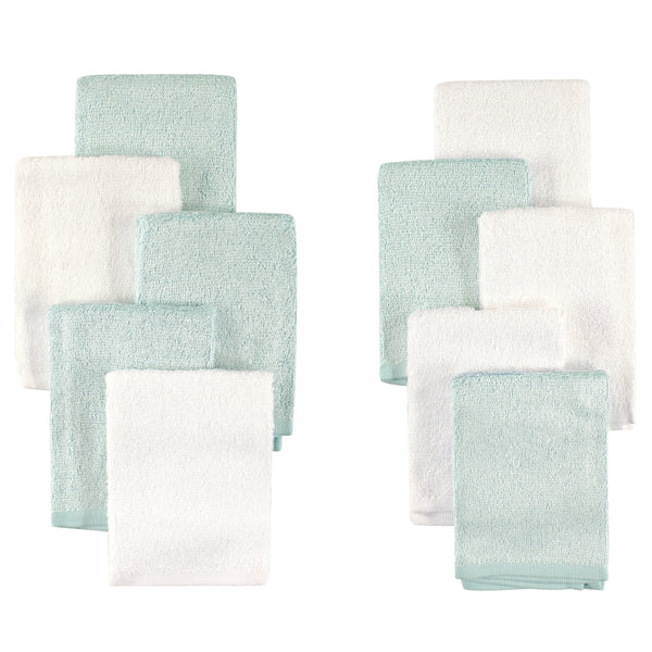 Little Treasure Rayon from Bamboo Luxurious Washcloths, Mint White