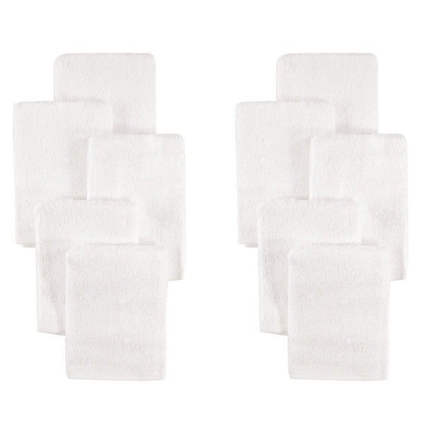 Little Treasure Rayon from Bamboo Luxurious Washcloths, White