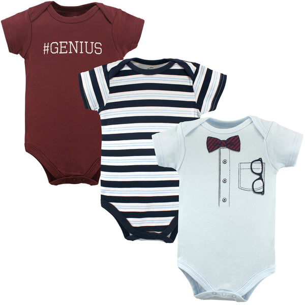 Little Treasure Cotton Bodysuits, Genius Short-Sleeve