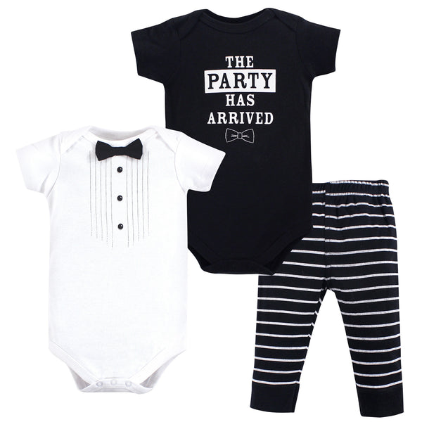 Little Treasure Cotton Bodysuit and Pant Set, Party Tux