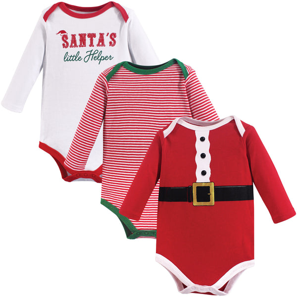 Little Treasure Cotton Bodysuits, Santas Helper