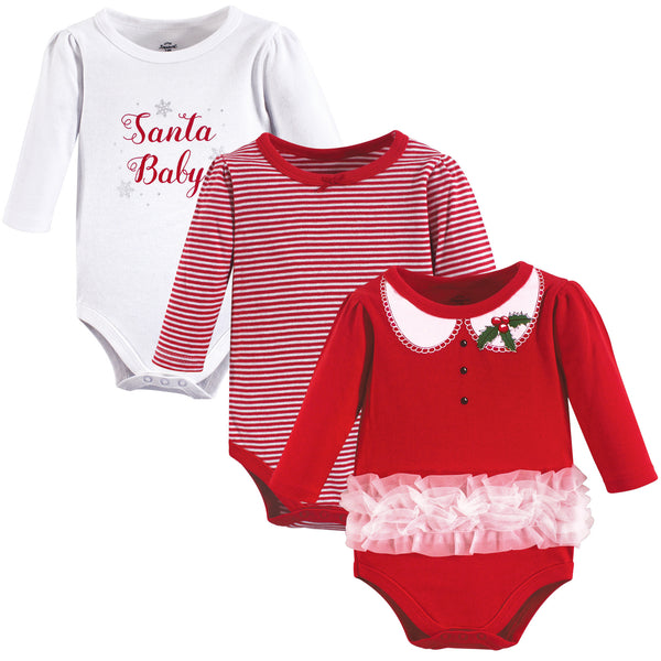 Little Treasure Cotton Bodysuits, Santa Baby