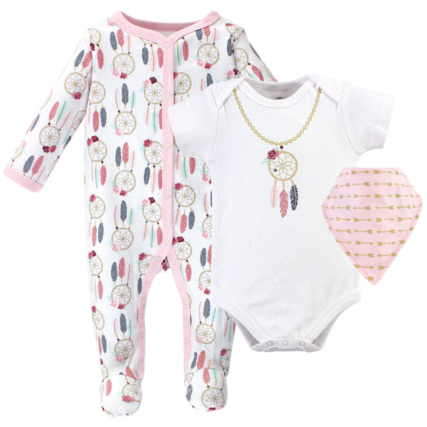 Little Treasure Sleep and Play, Bodysuit and Bib, Dream Catcher