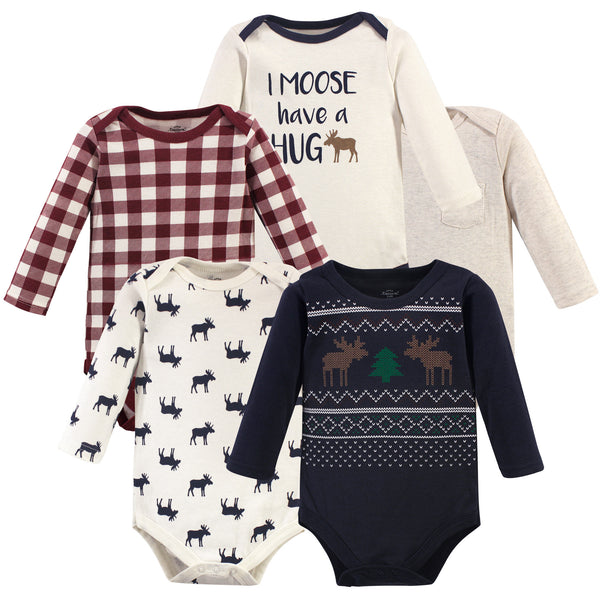 Little Treasure Cotton Bodysuits, Moose Sweater