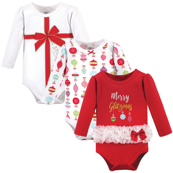 Little Treasure Cotton Bodysuits, Glitzmas