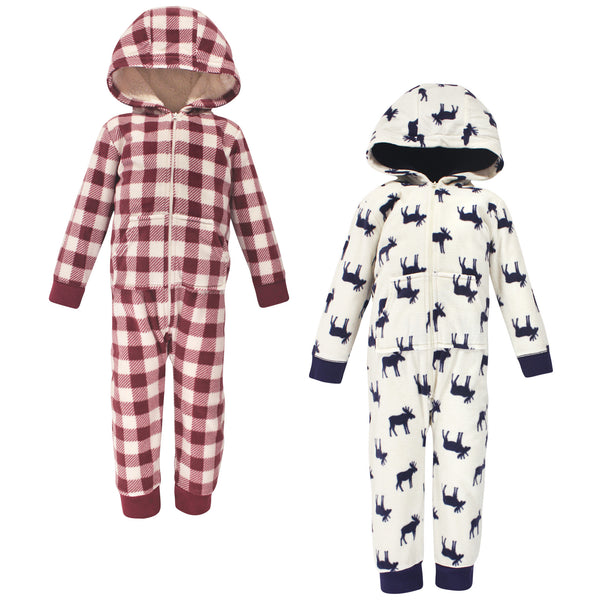 Little Treasure Fleece Jumpsuits and Coveralls, Moose Toddler