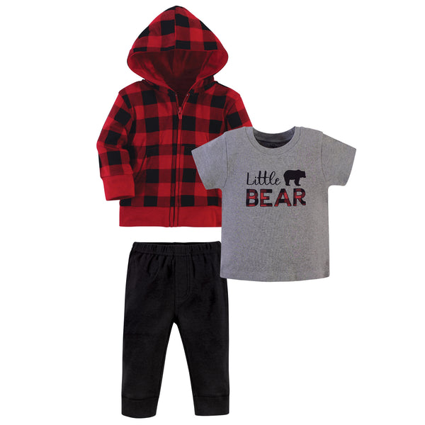 Little Treasure Hoodie, Bodysuit or Tee Top, and Pant Set, Little Bear