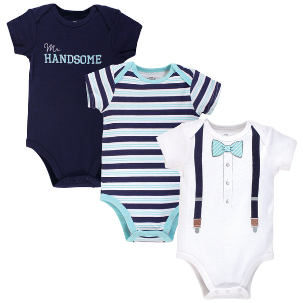 Little Treasure Cotton Bodysuits, Mr Handsome