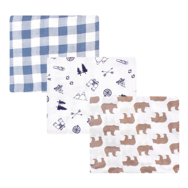 Little Treasure Cotton Muslin Swaddle Blankets, Adventure