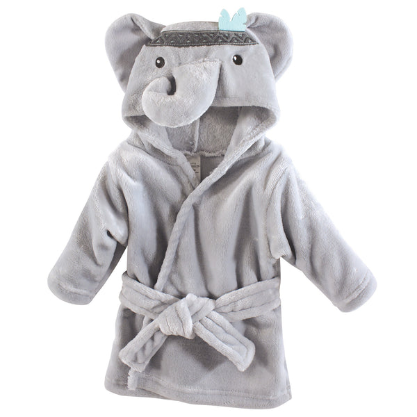 Little Treasure Plush Bathrobe, Tribal Elephant