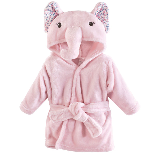 Little Treasure Plush Bathrobe, Floral Elephant