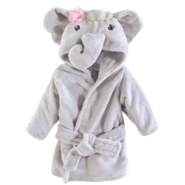 Little Treasure Plush Bathrobe, Blossom Elephant
