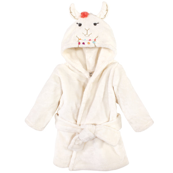 Little Treasure Plush Bathrobe, Llama, 0-9 Months