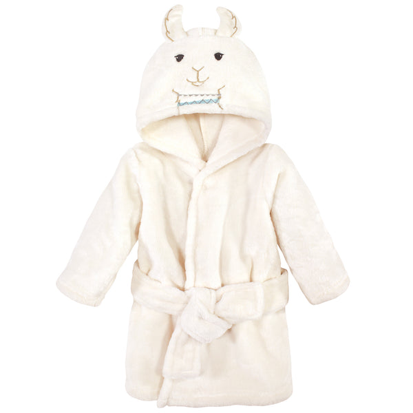 Little Treasure Plush Bathrobe, Neutral Llama, 0-9 Months