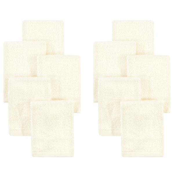 Little Treasure Rayon from Bamboo Luxurious Washcloths, Cream
